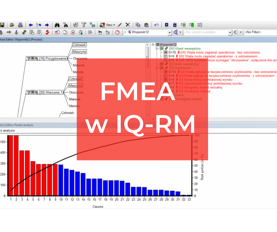 FMEA w programie APIS IQ-RM  – poziom zaawansowany *szkolenie z wykorzystaniem komputerów